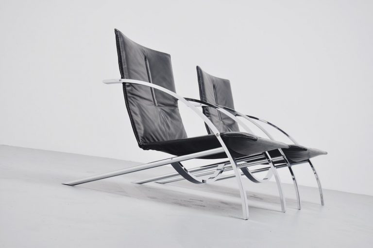 Paul Tuttle Arco lounge chairs Strassle 1976