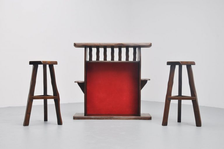 Olavi Hanninen dry bar set with stools Finland 1959