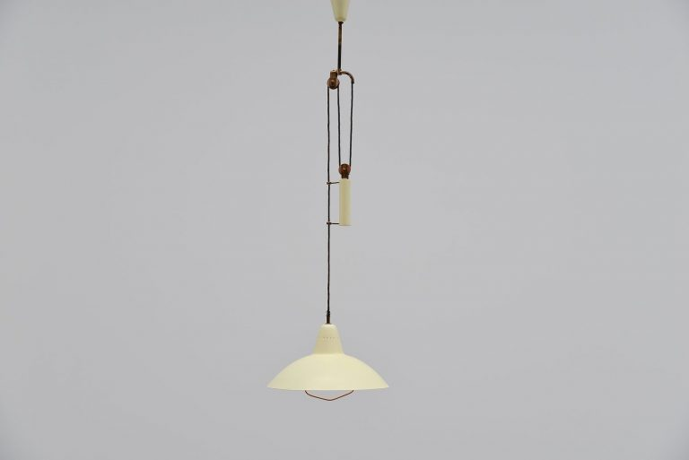 Stilnovo attributed balance ceiling lamp Italy 1950