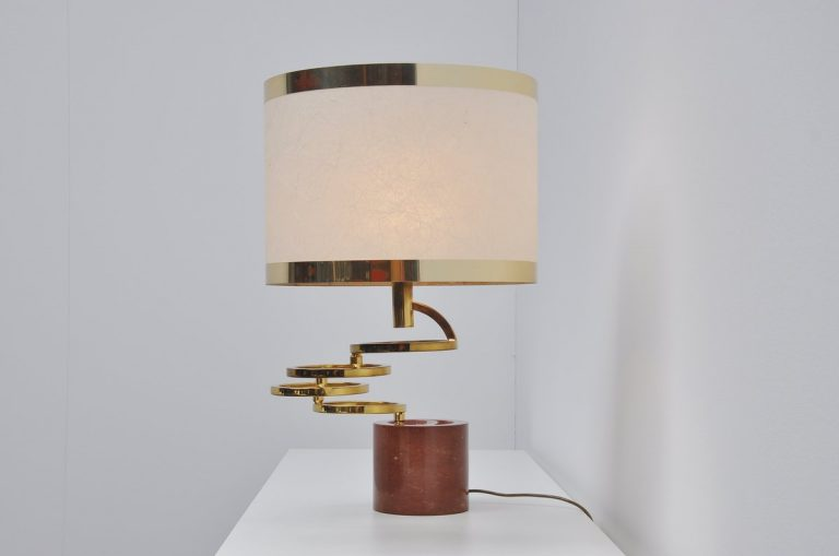 Banci Firenze Rotating table lamp with marble base Italy 1970