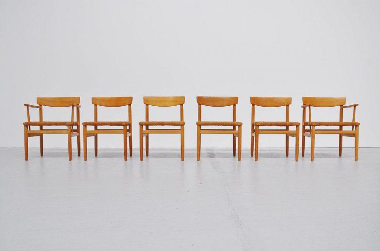 Borge Mogensen dining chairs Oresund 1955