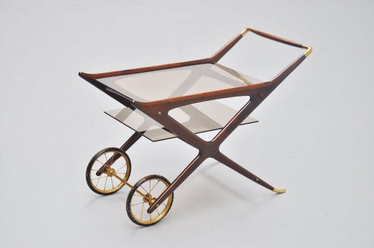 Cesare Lacca tea cart Italy 1950