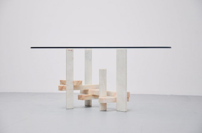 Willy Ballez sculptural dining table Belgium 1982