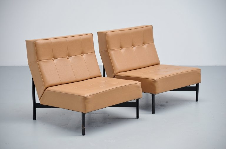Wim den Boon modernist lounge chairs Holland 1965