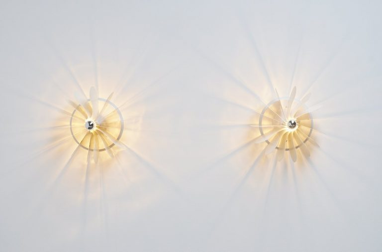 Pair Bolide sconces by Hermian Sneyders de Vogel for Raak 1971
