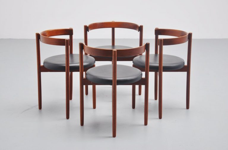 Hugo Frandsen dining chairs for børge m søndergaard Denmark 1964
