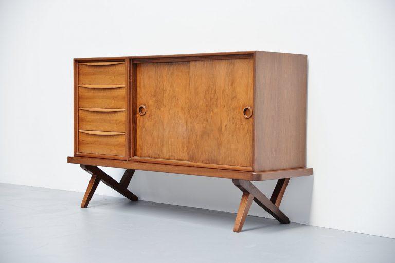 Rudolf Glatzel walnut credenza Fristho Holland 1955