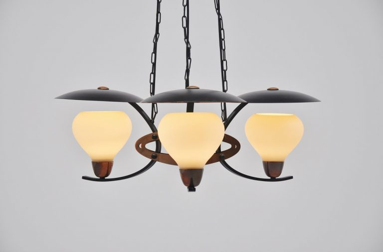 Austrian pendant lamp from Ski Resort 1950