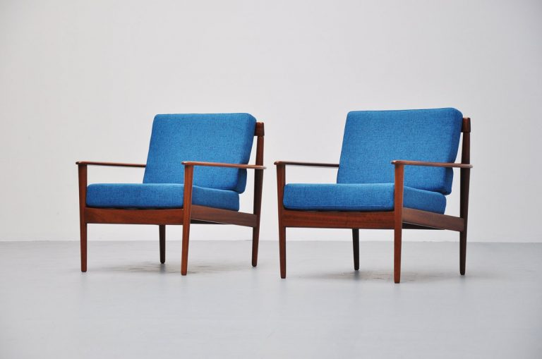 Grete Jalk easy chairs Model #56 P. Jeppesen 1961
