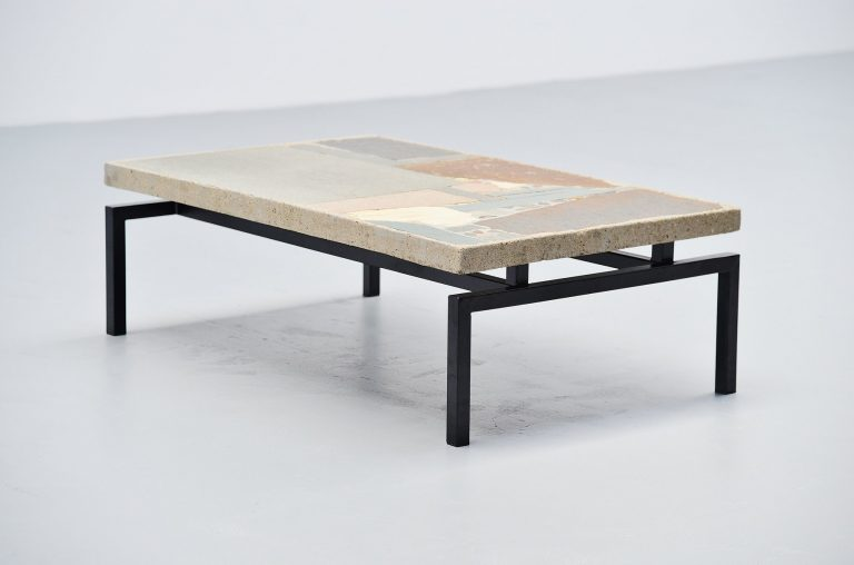 Paul Kingma rectangular coffee table Holland 1970
