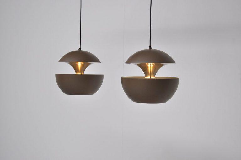 Raak Bertrand Balas fontaine lamps 1970