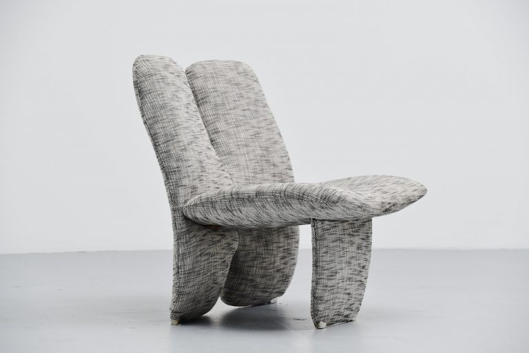 Olivier Mourgue style lounge chair France 1970