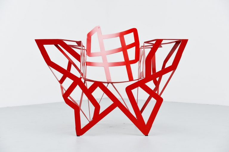 Gerard Coquelin zig zag chair France 1990