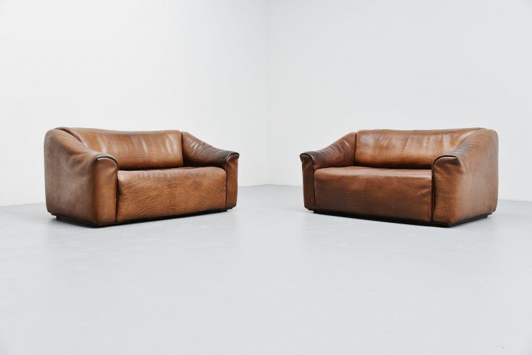 De Sede DS47 sofa 2 seater pair Switzerland 1970