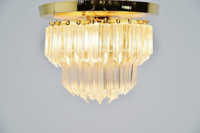 Venini Asta Quadrilobo ceiling lamp Italy 1960