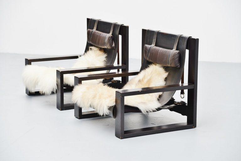 Sonja Wasseur lounge chairs Amsterdam 1970