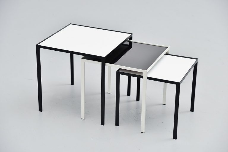 Floris Fiedeldij nesting table set Artimeta Soest 1960
