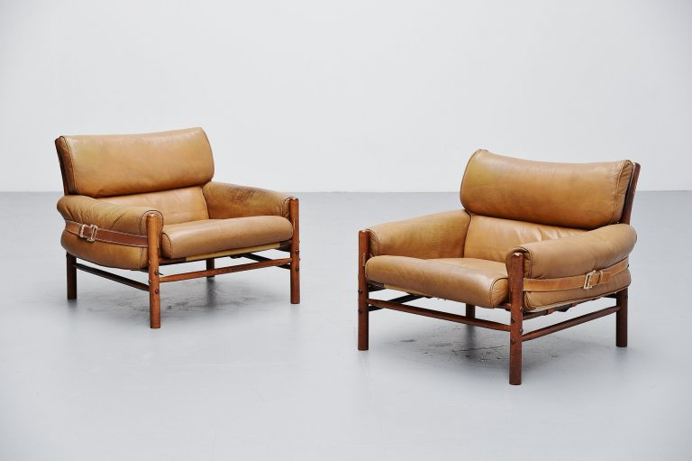 Arne Norell Kontiki lounge chairs Sweden 1960