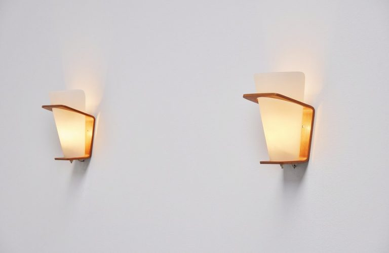 Pair NX41 sconces by Louis Christiaan Kalff for Philips 1954