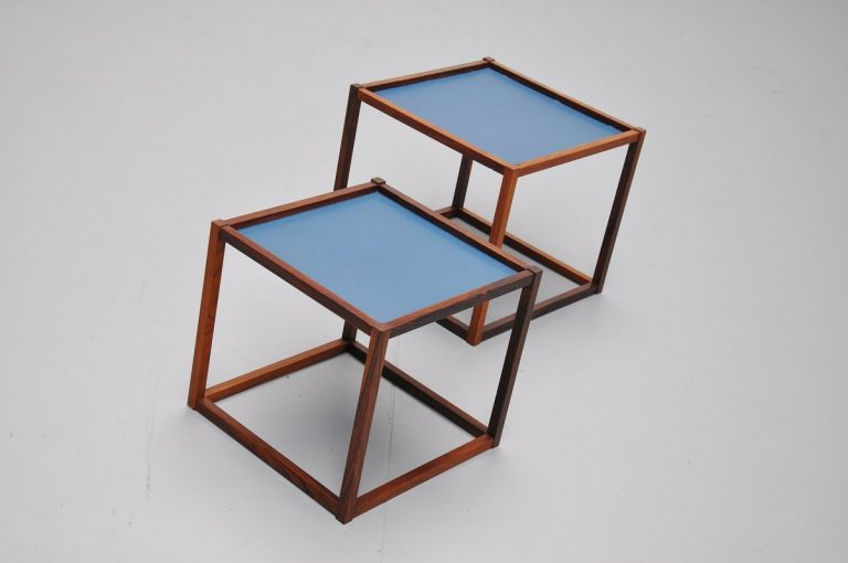 Bodil Kjaer pair of nesting tables for E. Pedersen & Son 1959