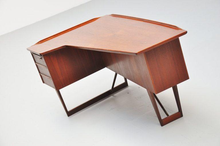 Peter Lovig Nielsen teak boomerang desk 1956