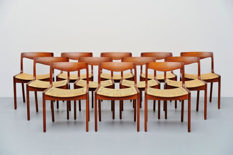 Vilhelm Wohlert dining chairs P. Jeppesen Denmark 1958