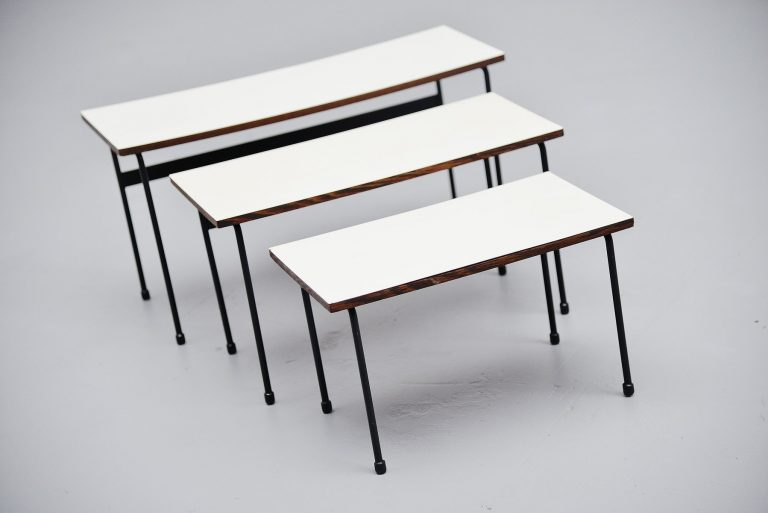 Martin Visser Twello nesting tables for 't Spectrum 1956