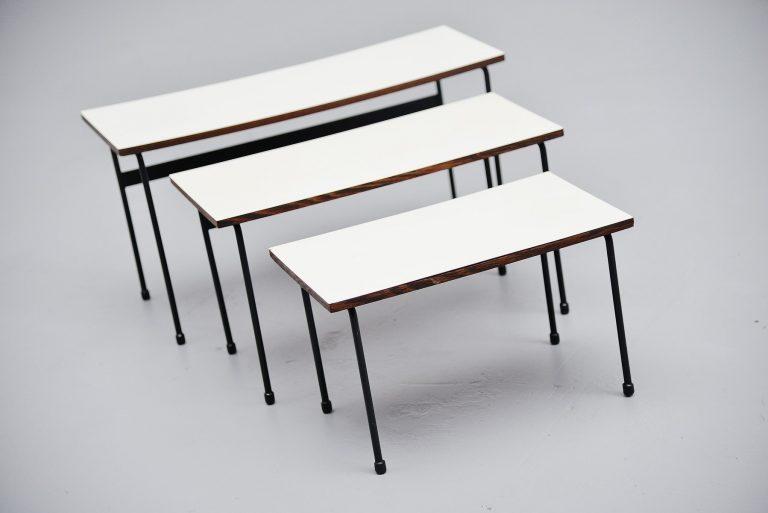 Martin Visser Twello nesting tables for 't Spectrum 1956