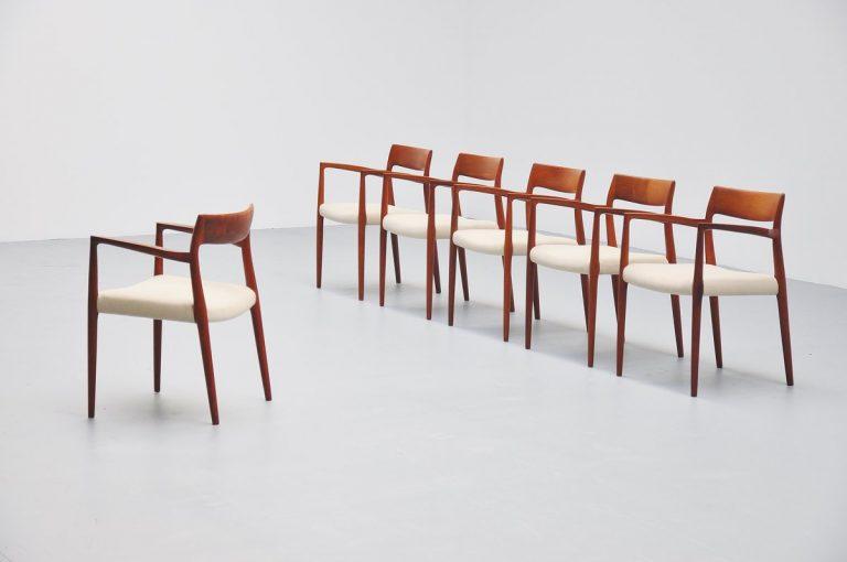 Niels Moller armchairs Model 57 Denmark 1959