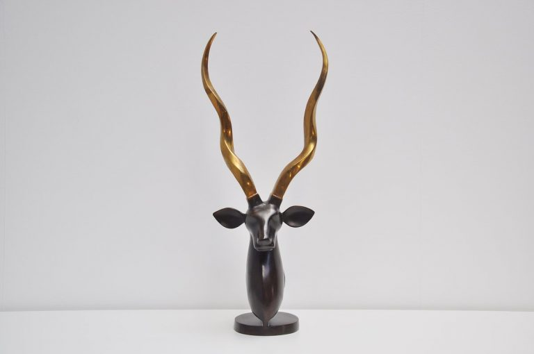 Bronze deer sculpture large sized Belgium 1970