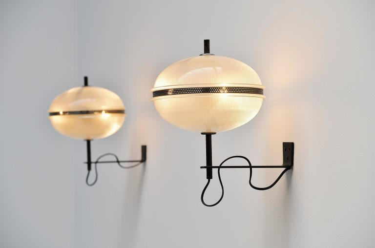 Sergio Mazza wall lamps pre Artemide Italy 1950