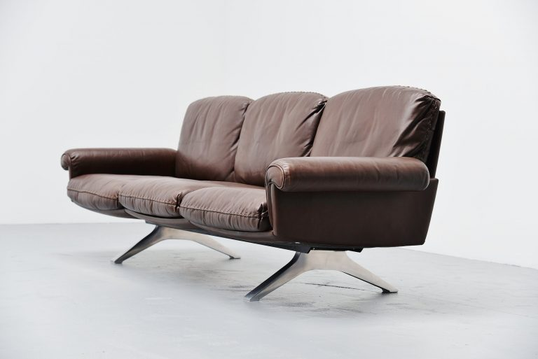 De Sede DS31/3 lounge sofa in brown leather Switzerland 1970