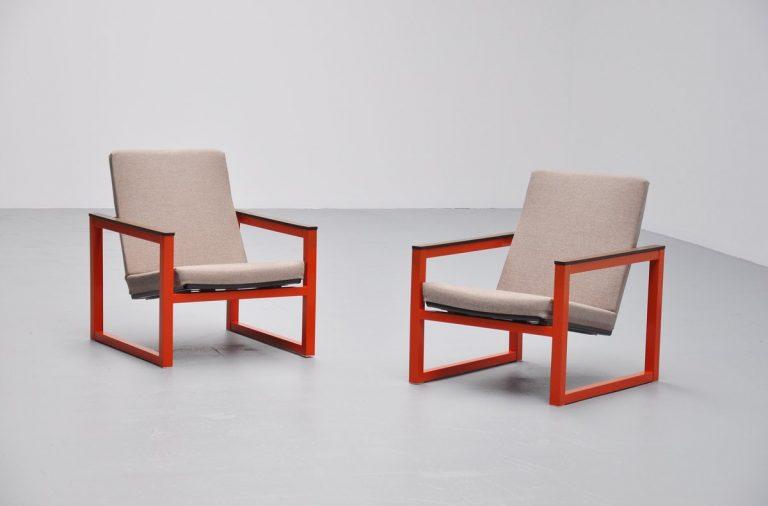 Tjerk Reijenga & Friso Kramer lounge chairs Pilastro 1965
