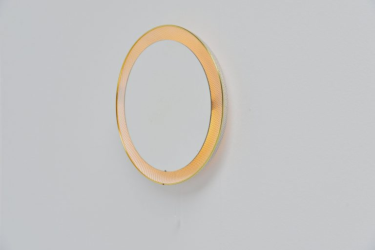Floris Fiedeldij wall mounted mirror Artimeta Holland 1960