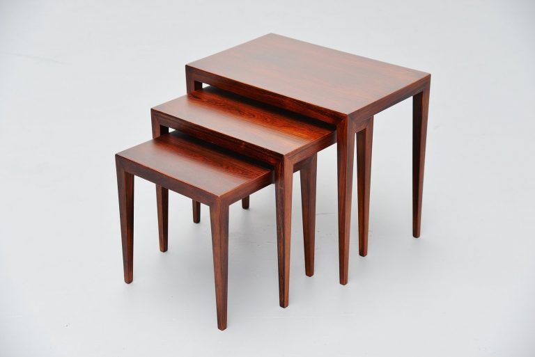 Severin Hansen Jr. Haslev nesting tables Denmark 1960