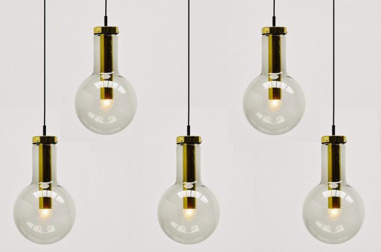 Raak Maxi globe lamps set model XL Amsterdam 1965