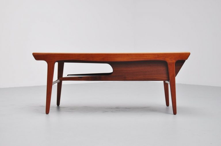 Unusual sliding coffee table Denmark 1960