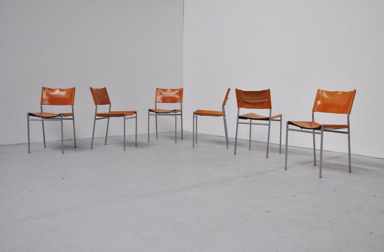 Martin Visser SE06 dining chairs 1965