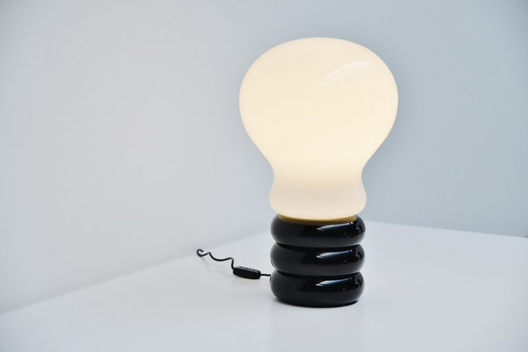 Ingo Maurer large Bulb table lamp M-Design Germany 1966