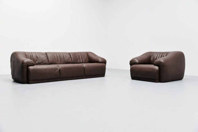 De Sede sofa set in buffalo leather Switzerland 1970