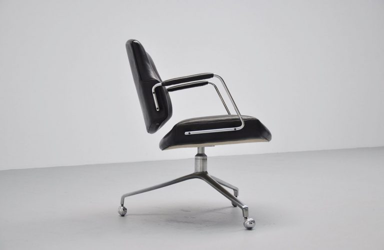 Preben Fabricius Jorgen Kastholm FK84 swivel desk chair 1968