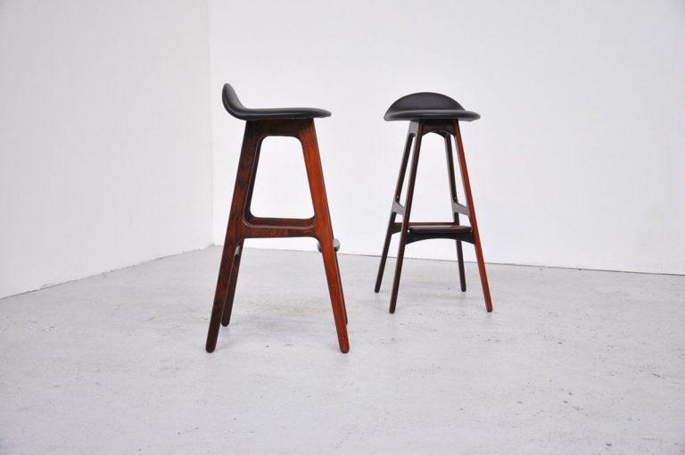 Erik Buck bar stools, Oddense 1960