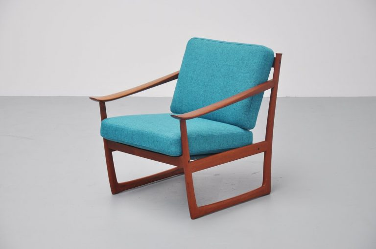 Peter Hvidt and Orla Molgaard slipper lounge chair 1961