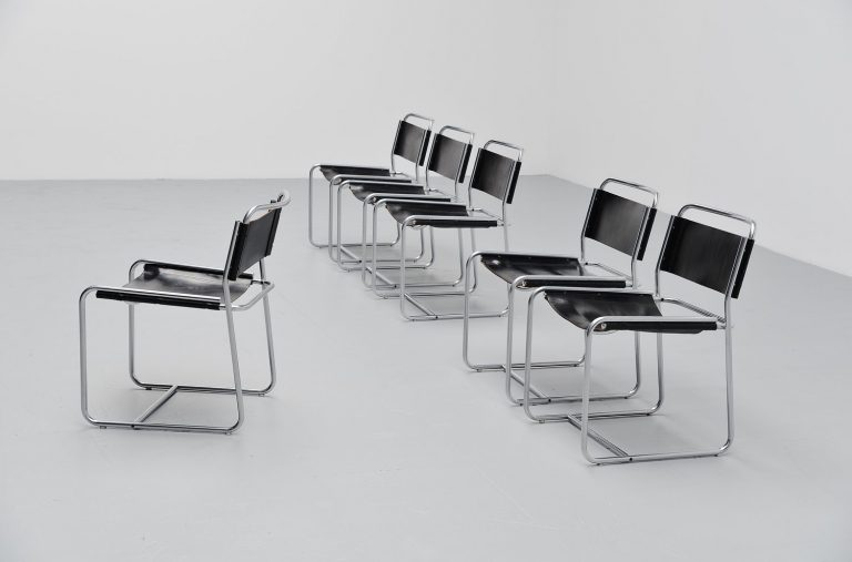 Claire Bataille & Paul Ibens dining chairs 't Spectrum 1971