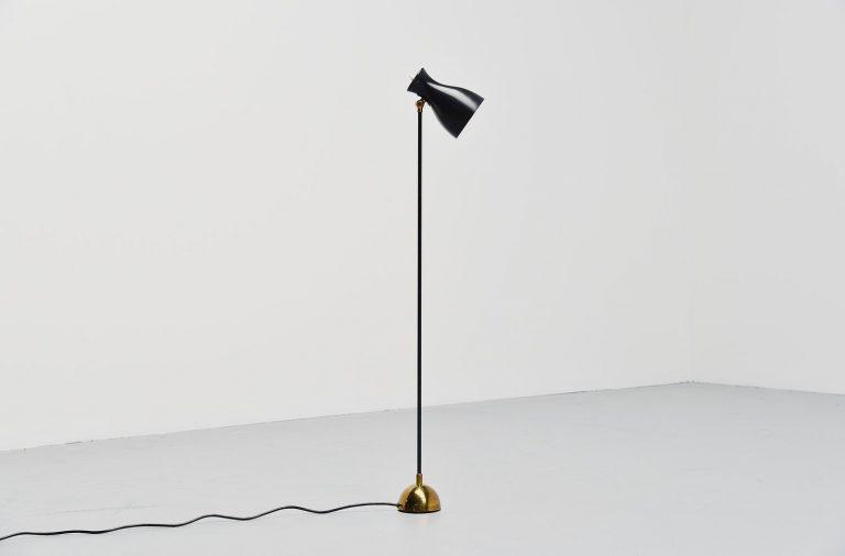 Dieter Schulz floor lamp Wohnbedarf AG Schweiz 1957