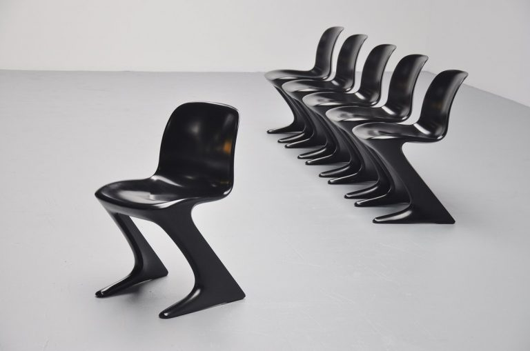 Ernst Moeckl kangaroo chairs for Horn Germany 1968