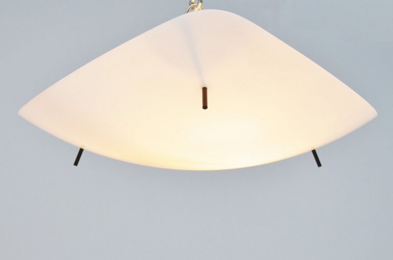 Italian ceiling lamp in plexi 1950