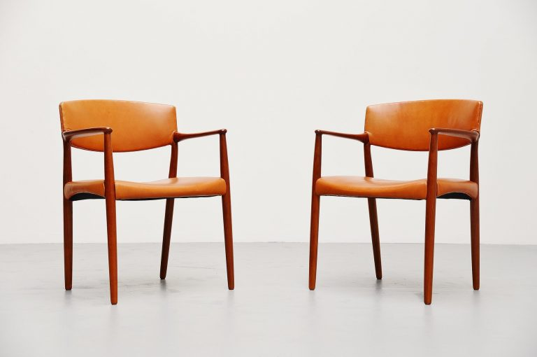 Ejnar Larsen Aksel Bender Madsen Willy Beck arm chairs 1951
