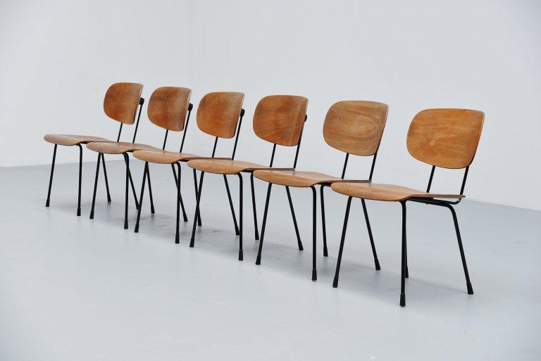 Wim Rietveld Gispen 116 chairs Culemborg Holland 1953