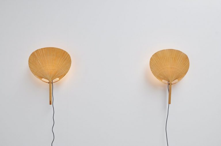 Ingo Maurer Uchiwa ll wall lamps Germany 1973